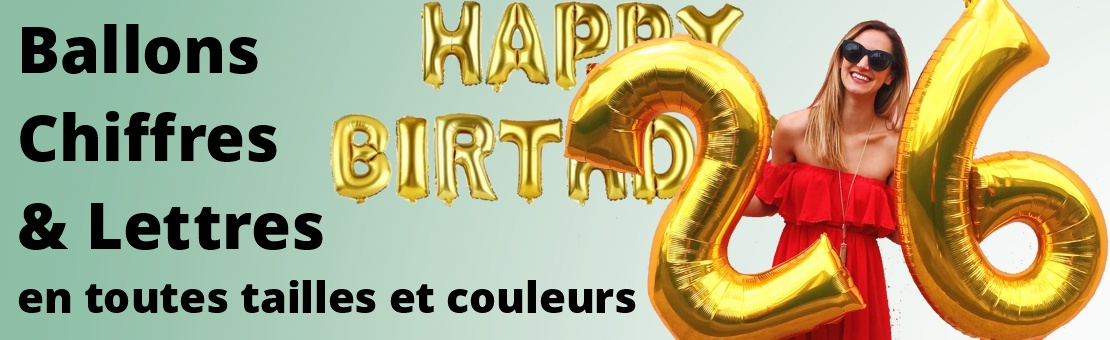 Ballons Chiffres & Lettres